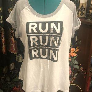 """NWOT LB Active """"Run Wild"""" T-Shirt"""